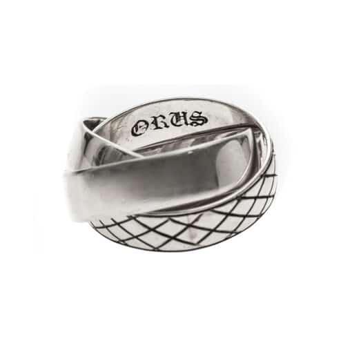 Ring 3 silver crossed rings 3