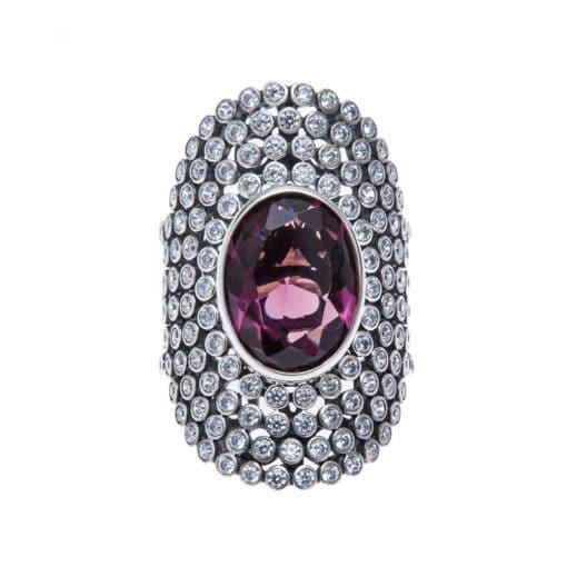 紫水晶美女美女银戒指3