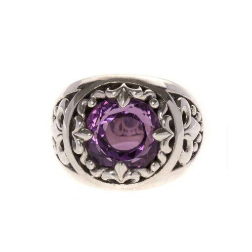 Amethist kleur rock union ring zilver heilig 3