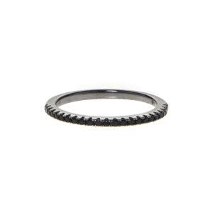 黑色闪闪发光的黑色石戒指戒指4