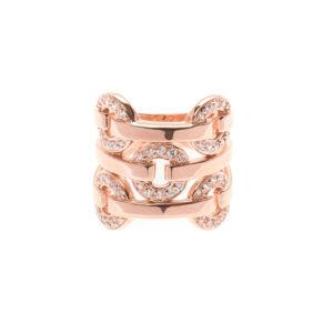 银戒指5圈,粉红色镶托3