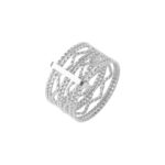 Bague argent anneaux ondulés 4