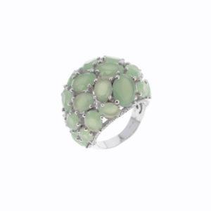 绿宝石凸圆形银戒指4