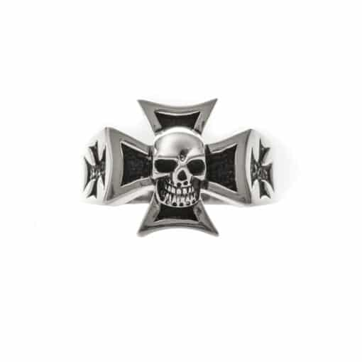 Silver cross chopper ring 3