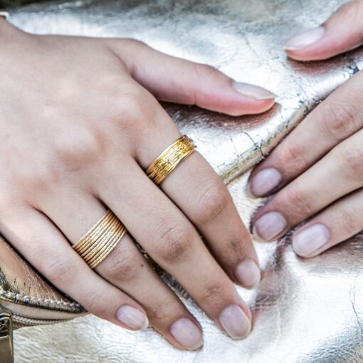 Weekly ring silver gold 4