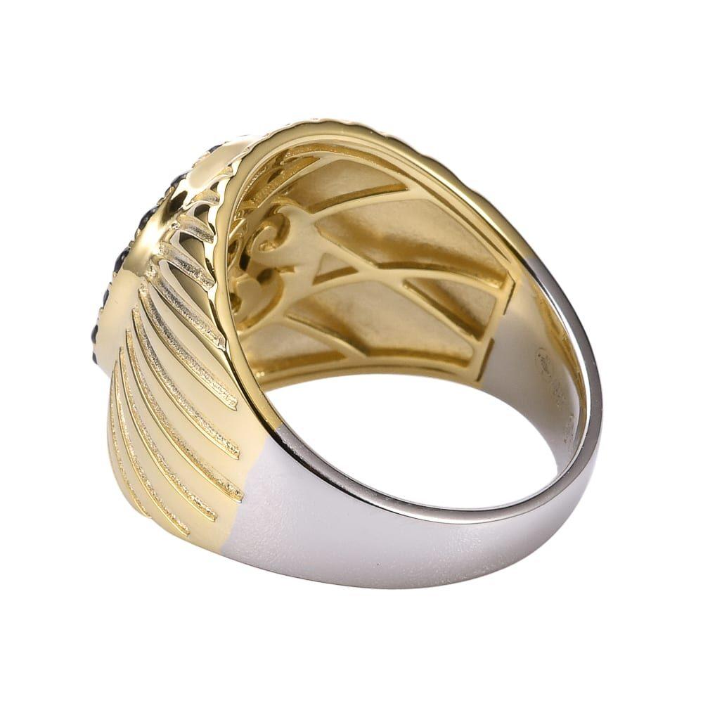 Bague argent doré nacre et zirconium Élisabeth 4