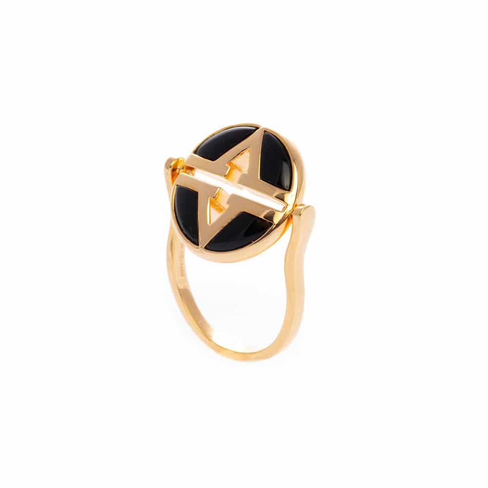 Bague argent doré virgin pierre onyx 4
