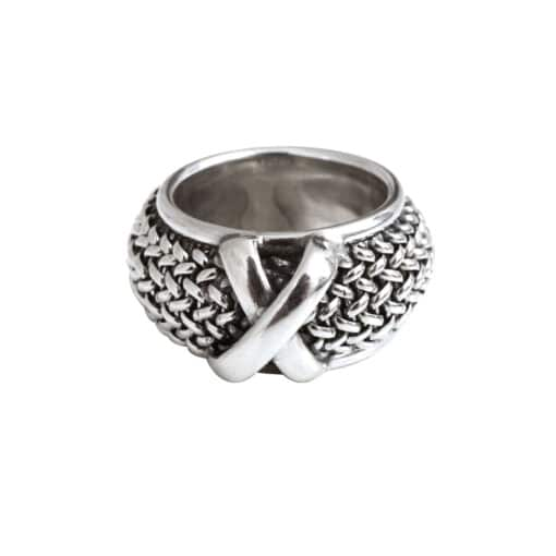 Fine silver link ring 3