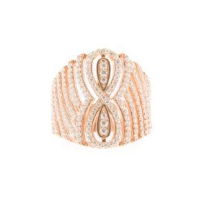 无限粉红银戒指3