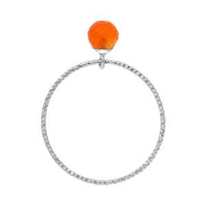 玛瑙珍珠铑银戒指8