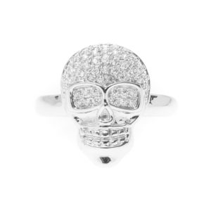 银铑骷髅头戒指配7