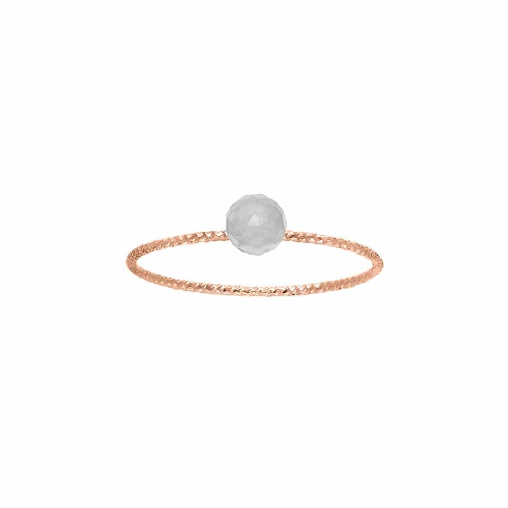 Bague argent rose perle fixe pierre de lune grise 1