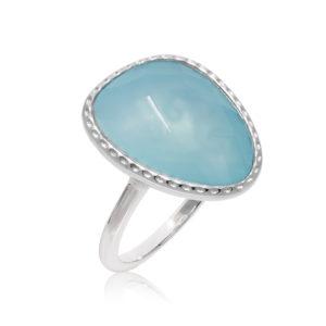 银戒指绿色水晶水维多利亚3