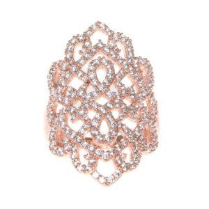 女子粉红蜗壳银戒指6