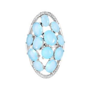 不对称银戒指蓝宝石3