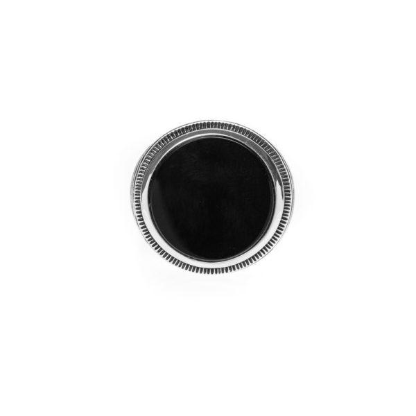 玛瑙男士图章戒指银1