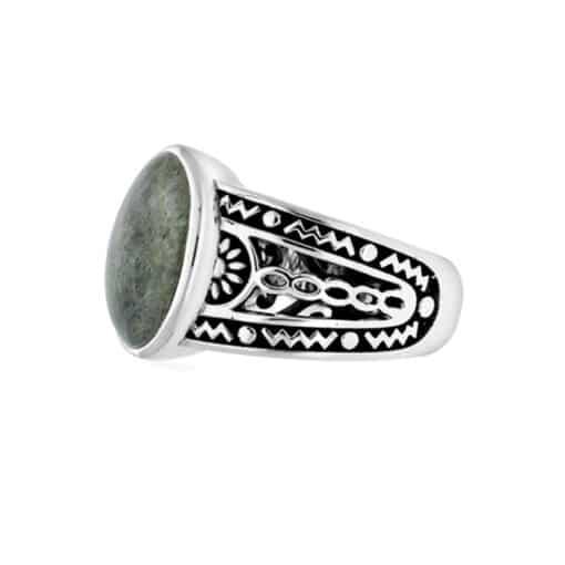 Ring man ethnic labradorite silver 3