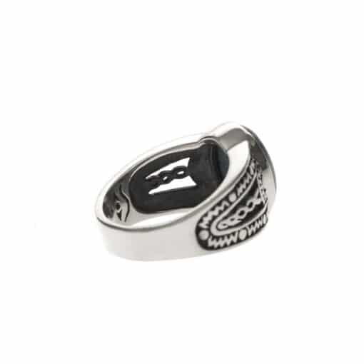 Ring man silver ethnic tiger eye 5