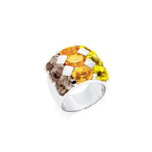 Hérarhodié石英戒指3颜色5