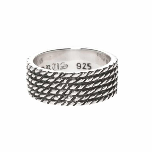 Men's silver scales ring 3