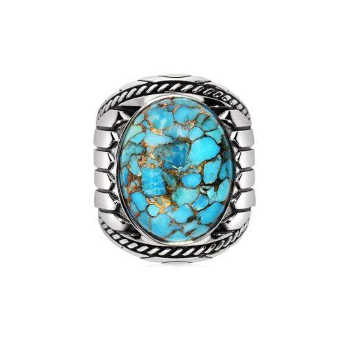 印度银绿松石戒指3