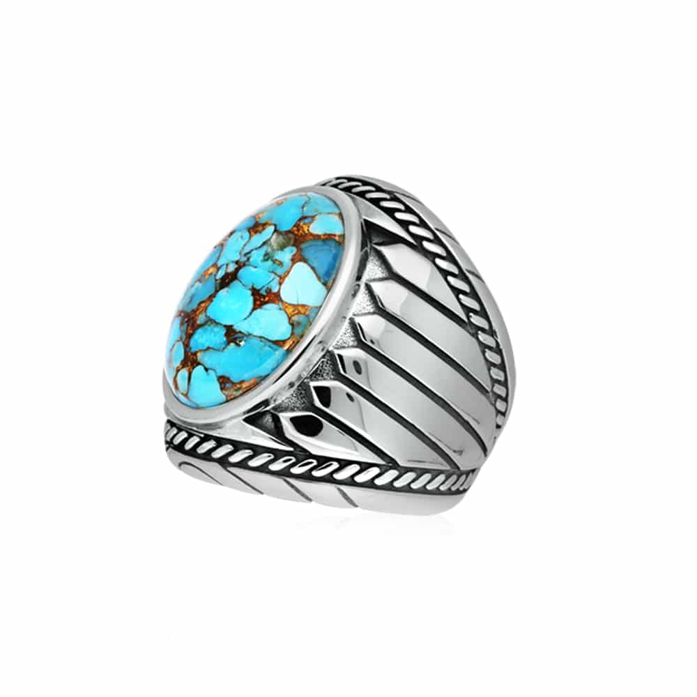 Bague turquoise indiana argent 4
