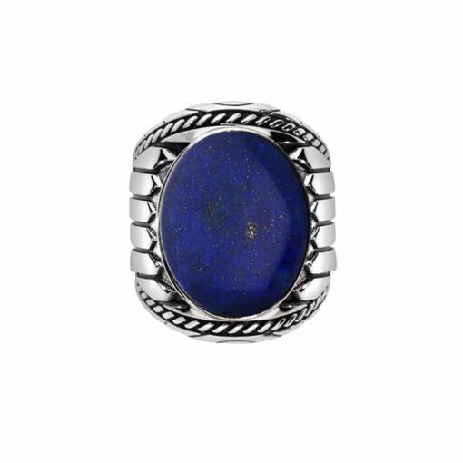 戒指男子青金石印第安纳银3