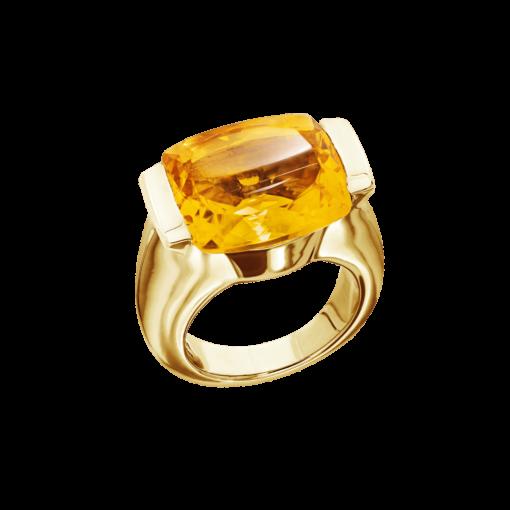 Bague Maia argent  doré pierre citrine 3