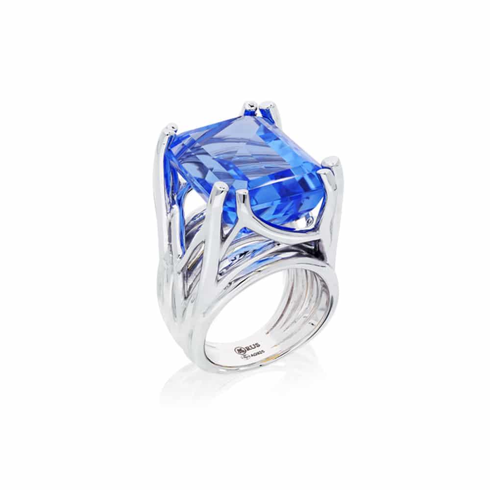Bague muse argent quartz bleu 3