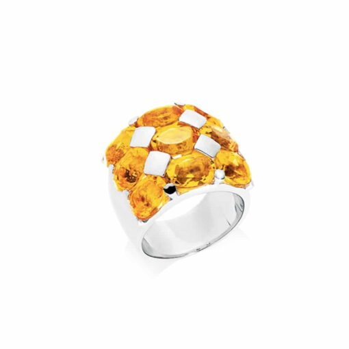 Bague Héra argent quartz citrine 3