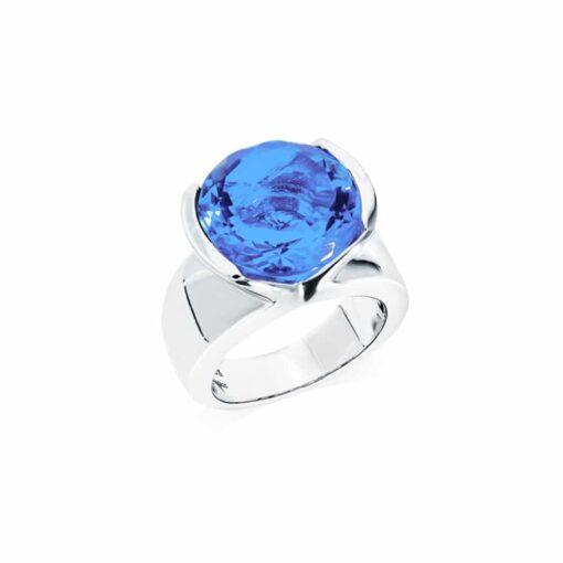 Bague sélène argent  pierre quartz bleu 3