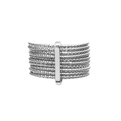 Weekly ring silver braided ring type 3