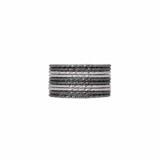 Weekly ring silver black two-tone braided ring type 3