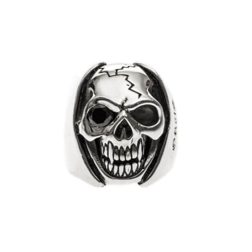 Bague homme tête de mort argent big skull 3