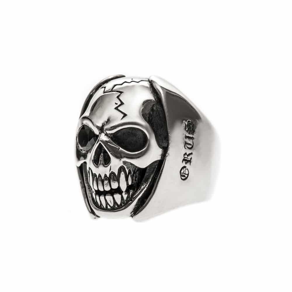 Bague homme tête de mort argent big skull 5