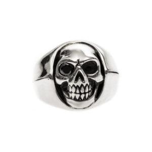 Bague homme tête de mort argent little skull 6