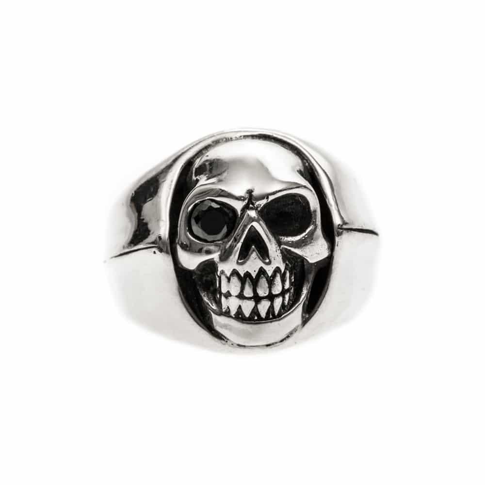 Bague homme tête de mort argent little skull 3