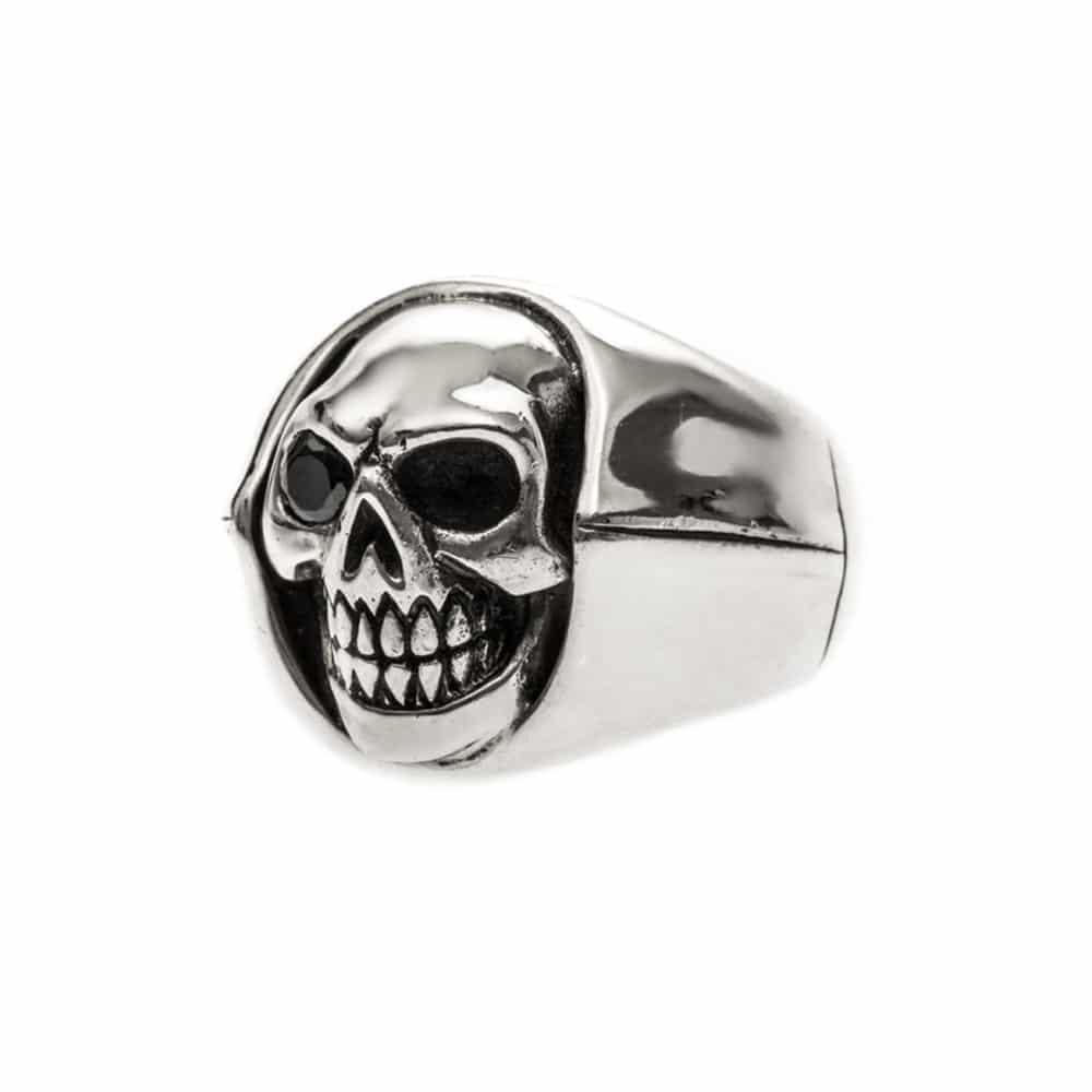 Bague homme tête de mort argent little skull 5