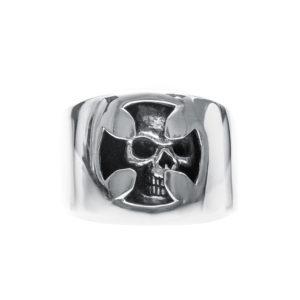 男士戒指骷髅和银十字架4