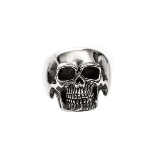 Bague homme tête de mort pure skull argent 3
