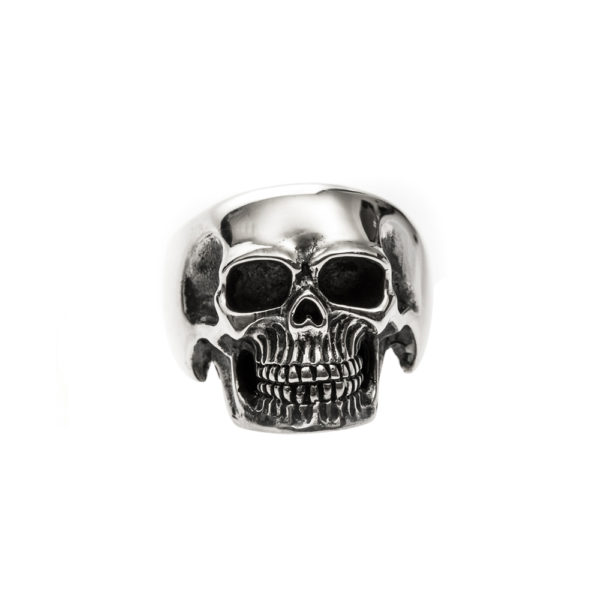 Bague homme tête de mort pure skull argent 1