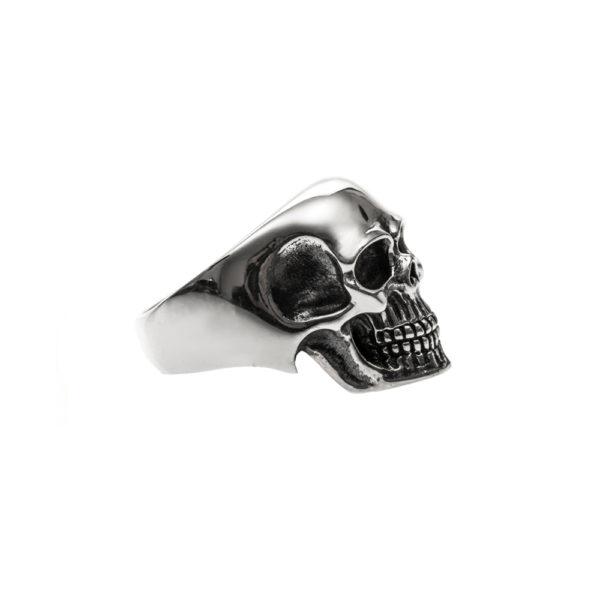 Bague homme tête de mort pure skull argent 2