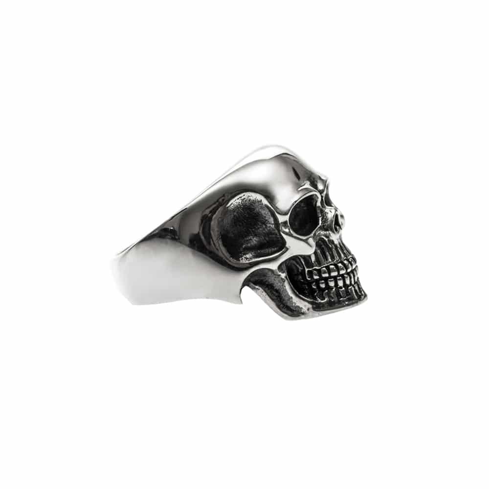 Bague homme tête de mort pure skull argent 4