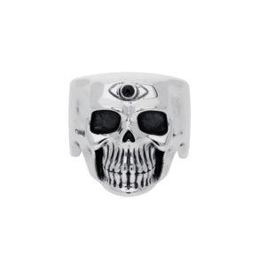 Bague tête de mort pure skull cyclope argent 4