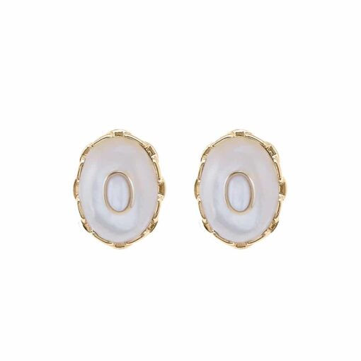 White mother-of-pearl clothilde silver earrings 3