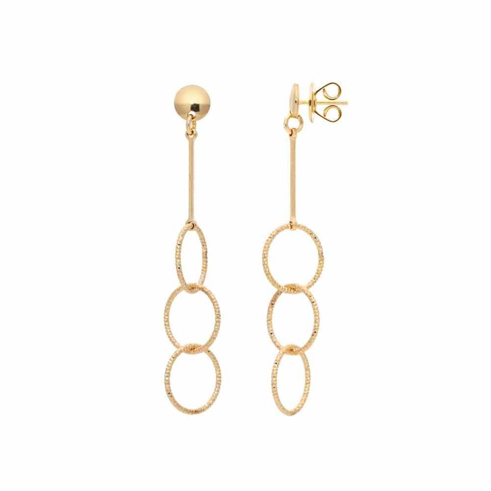 Boucles d oreilles argent doré diamanté Syntia 3
