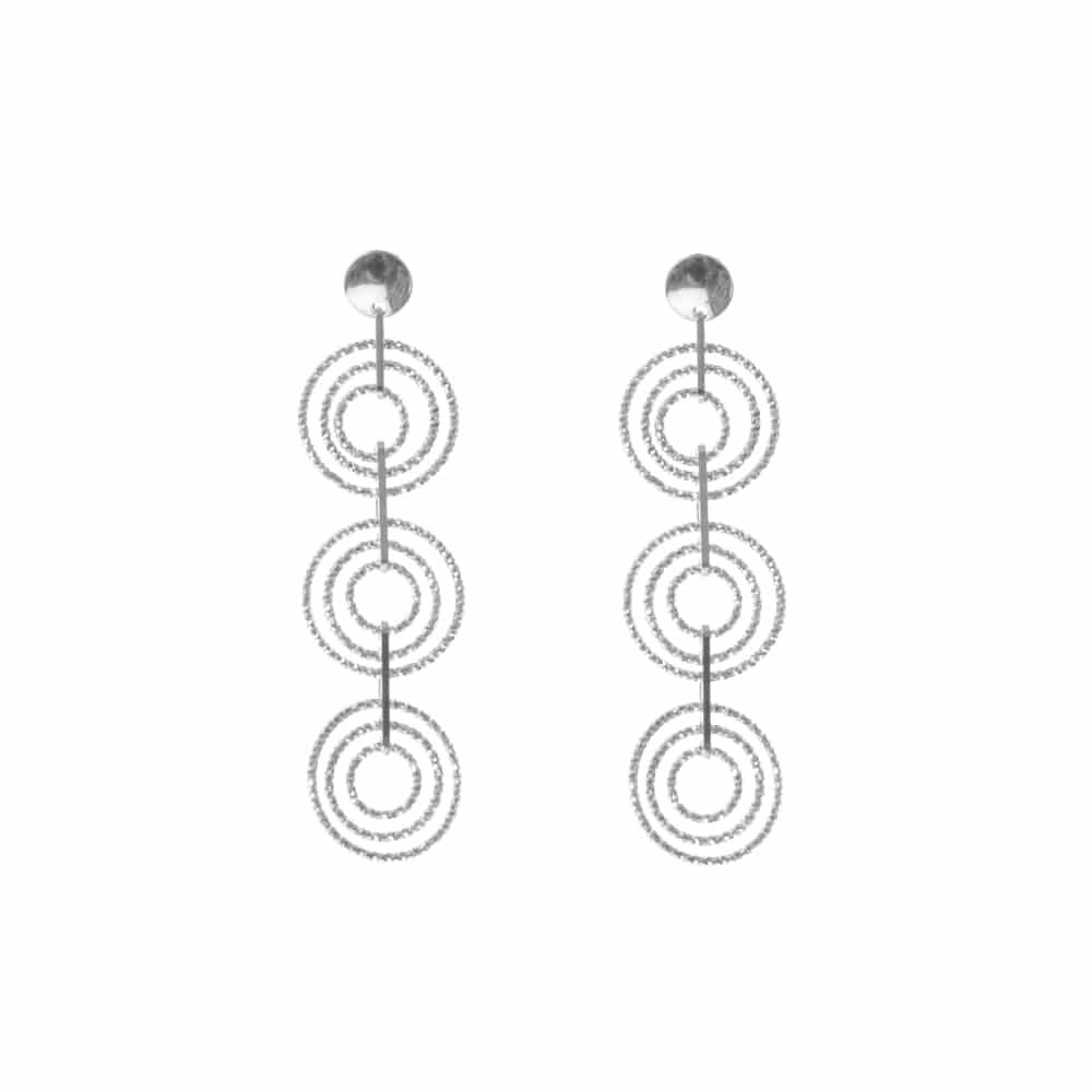 Boucles d oreilles argent rhodié diamanté Beatrice 3