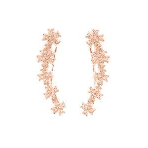 银色天使粉红色袖口耳环3
