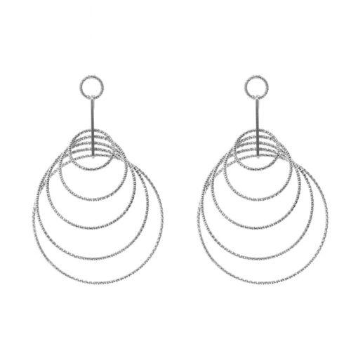 3D rhodium-plated idyll earrings 3
