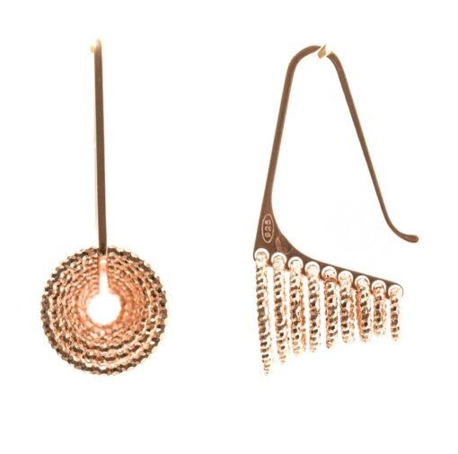 Fullness 3D earrings silver rose 3